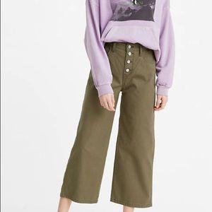 New Levi's Mile High Waist wide leg Olive Jeans